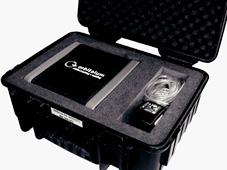 Газоанализатор ORBmax в транспортировочном чемоданчике.