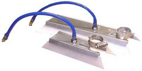 Накладки подачи продувочного газа для прямолинейных швов