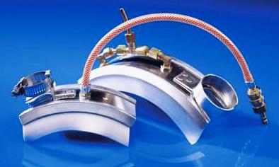 Накладки подачи продувочного газа для труб